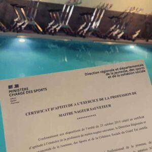 certificat aptitude profession maitre nageur reims